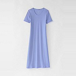 Lands' End - Purple women's petite short sleeve knee length plain sleep-t