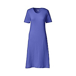 Lands' End - Blue petite short sleeve knee length plain sleep-t