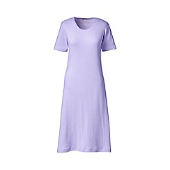 Lands' End - Purple petite short sleeve knee length plain sleep-t