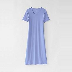 Lands' End - Purple plus short sleeve knee length plain sleep-t