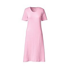 Lands' End - Pink short sleeve knee length plain sleep-t