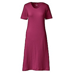 Lands' End - Red short sleeve knee length plain sleep-t
