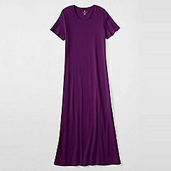 Lands' End - Purple women's short sleeve mid-calf plain sleep-t