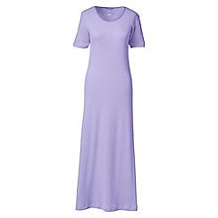 Lands' End - Purple short sleeve mid-calf plain sleep-t