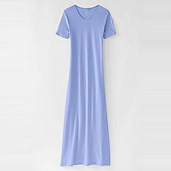 Lands' End - Purple women's short sleeve mid-calf plain sleep-t