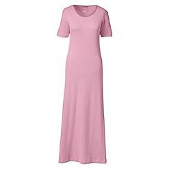 Lands' End - Pink short sleeve mid-calf plain sleep-t