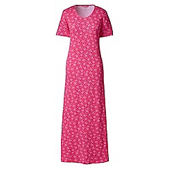 Lands' End - Pink short sleeve mid-calf patterned sleep-t