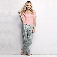 Lands' End - Grey women's poplin pyjama bottoms