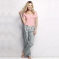 Lands' End - Grey women's poplin pyjama bottoms petite