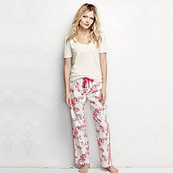 Lands' End - White women's poplin pyjama bottoms petite