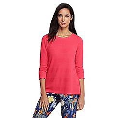 Lands' End - Red women's textured jacquard top