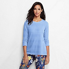 Lands' End - Blue women's textured jacquard top