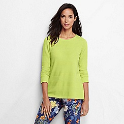 Lands' End - Yellow women's textured jacquard top