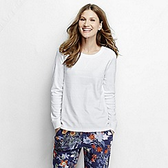 Lands' End - White women's textured jacquard top