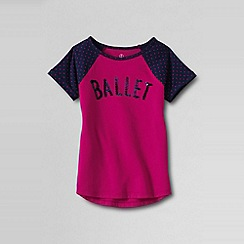 Lands' End - Pink girls' novelty graphic tee