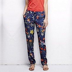 Lands' End - Multi women's regular woven print soft trousers