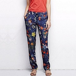 Lands' End - Multi women's petite woven print soft trousers