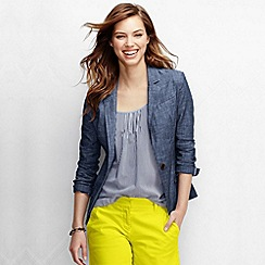Lands' End - Blue women's regular chambray blazer