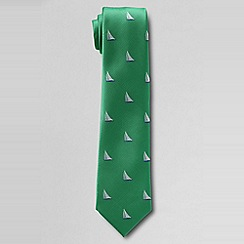 Lands' End - Green ship icon tie