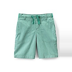 Lands' End - Green boys' patterned pull-on beach shorts