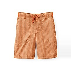 Lands' End - Orange boys' patterned pull-on beach shorts