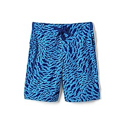 Lands' End - Blue boys' patterned pull-on beach shorts