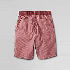 Lands' End - Red boys' patterned pull-on beach shorts