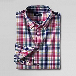 Lands' End - Multi men's plaid cotton shirt