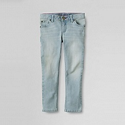 Lands' End - Blue little girls' 5-pocket denim capri trousers