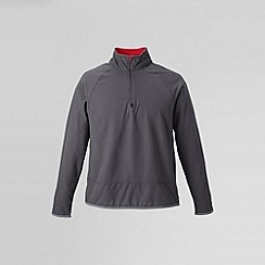 Lands' End - Grey men's microgrid fleece jacket