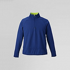 Lands' End - Blue men's microgrid fleece jacket