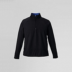 Lands' End - Black men's microgrid fleece jacket