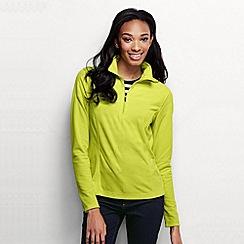 Lands' End - Green women's microgrid fleece half zip