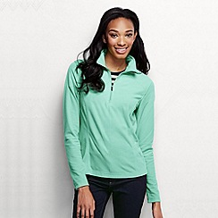 Lands' End - Green women's microgrid fleece half zip