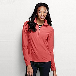 Lands' End - Orange women's microgrid fleece half zip