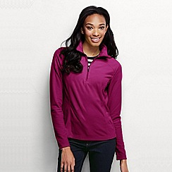 Lands' End - Purple women's microgrid fleece half zip