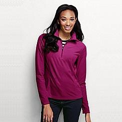Lands' End - Purple women's microgrid fleece half zip