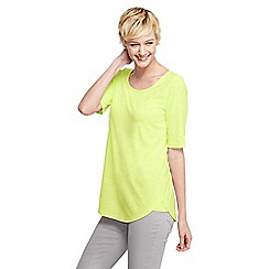 Lands' End - Yellow women's scoop neck tunic