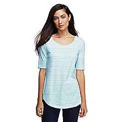 Lands' End - Blue women's striped scoop neck tunic