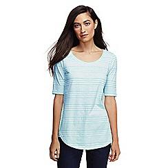 Lands' End - Blue women's striped scoop neck tunic