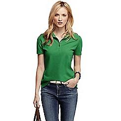Lands' End - Green women's pique short sleeve polo shirt