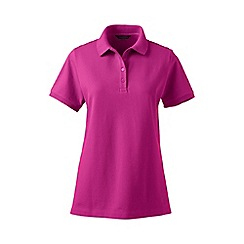 Lands' End - Pink pique short sleeve polo shirt petite