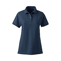 Lands' End - Blue plus classic fit short sleeve pique polo