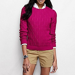 Lands' End - Pink women's drifter cable jumper