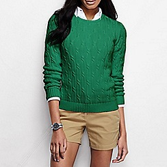 Lands' End - Green women's drifter cable jumper