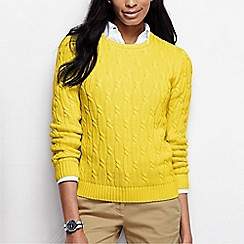 Lands' End - Yellow women's drifter cable jumper