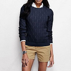 Lands' End - Blue women's drifter cable jumper