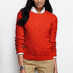 Lands' End - Orange women's drifter cable jumper