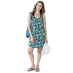Lands' End - Blue women's floral cover-up vest