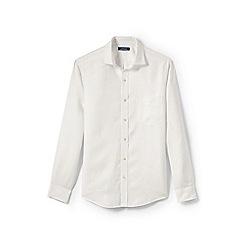 Lands' End - Cream regular linen shirt